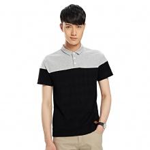 Polo衫男短袖 2015夏装男装短袖t恤 男士拼接撞色修身韩版潮