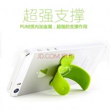 哈马 韩国 单手操作器 魔力贴 U形手机支架创意可爱懒人支架 单个绿色