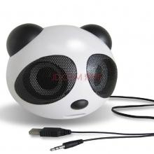 安索夫迷你电脑USB2.0小音箱可爱熊猫便携笔记本台式电脑音箱 音响