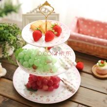 Jaka蝴蝶夫人浮雕陶瓷分层水果盘 点心盘子 双层三层 多款可选