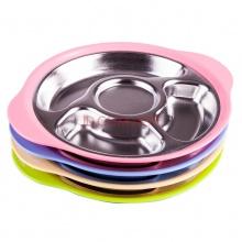 304不锈钢宝宝分格餐盘 儿童餐具分隔格碗餐盘婴儿盘