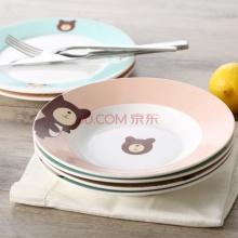 可爱卡通餐盘水果盘点心盘 盘子儿童托盘餐具6件套