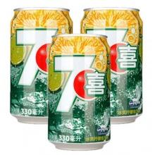 七喜冰爽柠檬汽水330ml*24(整箱)