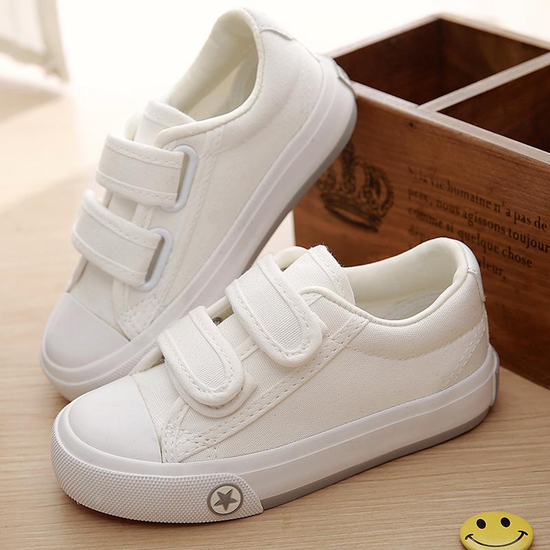 飞耀童鞋儿童帆布鞋女童布鞋男童白色板鞋休闲运动鞋小白鞋春秋款