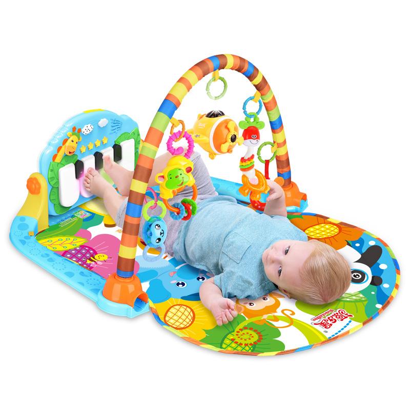 源乐堡脚踏钢琴婴儿健身架器新生儿宝宝音乐玩具0-1岁3-6-12个月