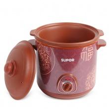 Supor/苏泊尔 DKZ60B1-350电炖锅6l砂锅炖盅煮粥煲汤养生紫砂陶瓷