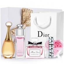 Dior/迪奥香水3件套礼盒装 女士甜心真我魅惑花漾5mlQ版小样香氛