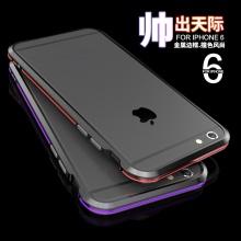 雪奈儿 金属边框手机壳套保护壳新款 适用于苹果iPhone6/Plus 4.7英寸 利剑i6土豪金5.5